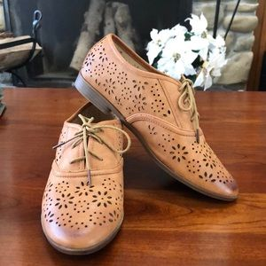 Restricted Faux Leather Oxfords